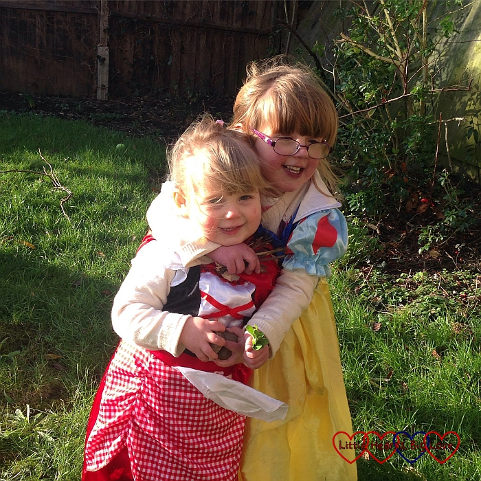 Fairytale fun in the garden with two little princesses - The Friday Focus 29/01/16 - Little Hearts, Big Love