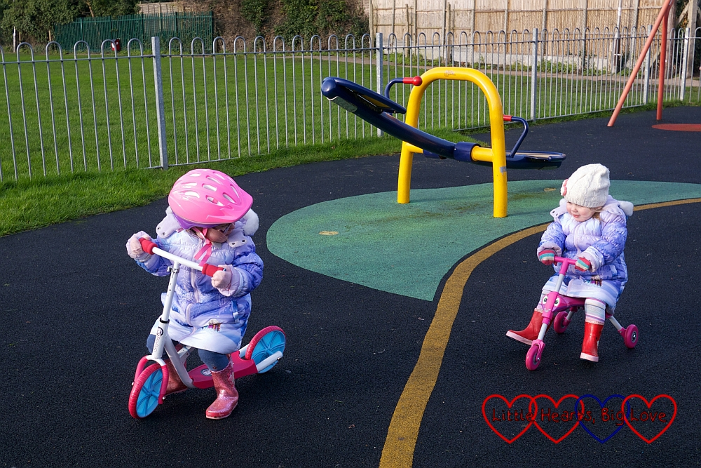 Racing each other across the park - My Sunday Photo 17/01/16 - Little Hearts, Big Love