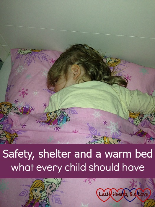 Safety, shelter and a warm bed - what every child needs - Little Hearts, Big Love. My thoughts on the refugee crisis and the children fleeing Syria who are at risk of hypothermia and pneumonia during the cold winter