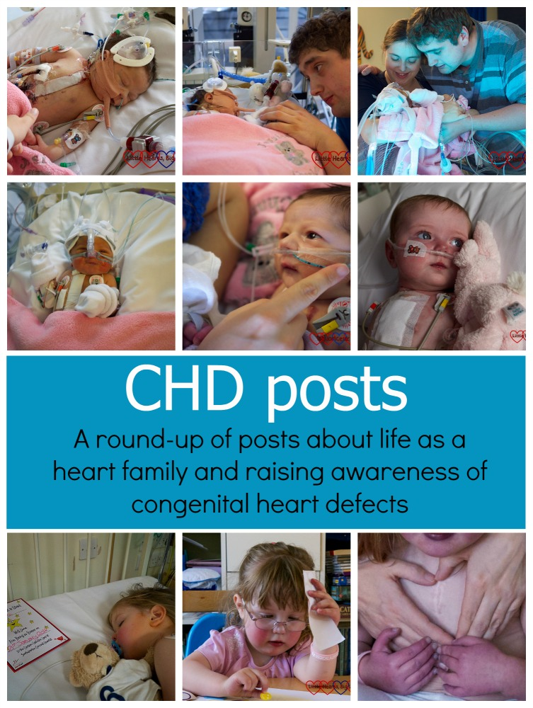 CHD posts - A round-up of posts about life as a heart family and raising awareness of congenital heart defects -Little Hearts, Big Love