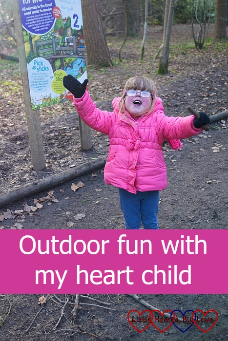 Outdoor fun with my heart child - Little Hearts, Big Love