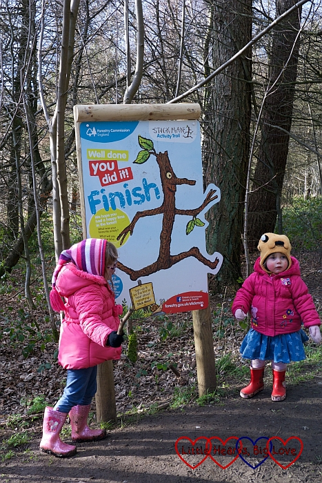 Completing the Stick Man trail at Wendover Woods
