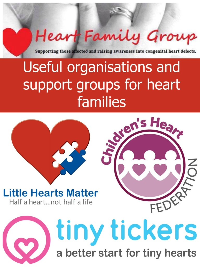 Useful organisations and support groups for heart families - Little Hearts, Big Love