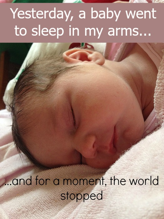 Yesterday, a baby went to sleep in my arms, and for a moment, the world stopped - Little Hearts, Big Love