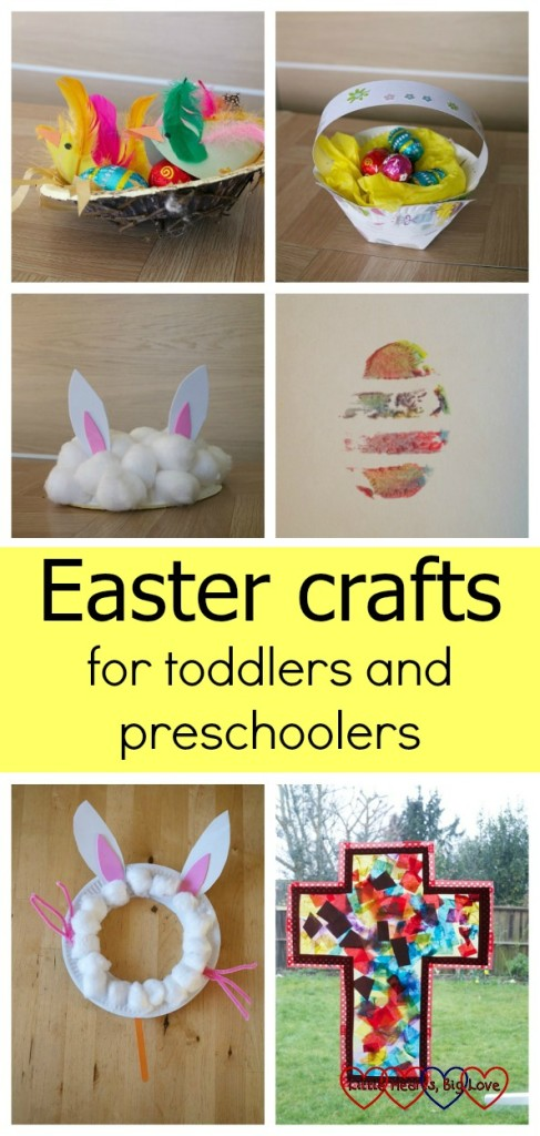 Easter crafts for toddlers and preschoolers - Little Hearts, Big Love