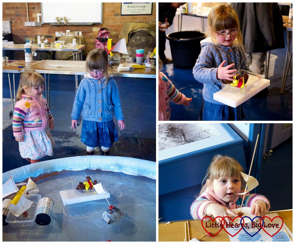 Making boats from junk - London Canal Museum Family Science Challenge Day - Little Hearts, Big Love