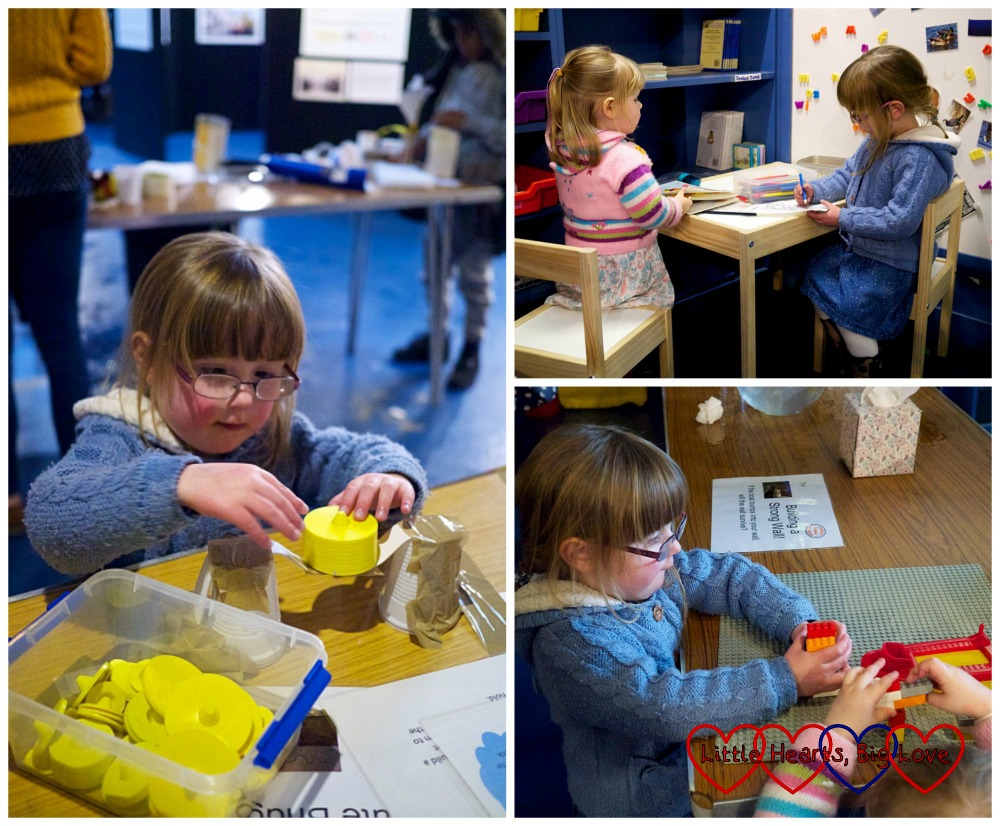 Bridge building challenge and other activities - London Canal Museum Family Science Challenge Day - Little Hearts, Big Love