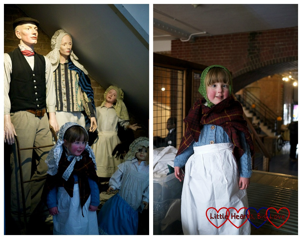 Dressing up - London Canal Museum Family Science Challenge Day - Little Hearts, Big Love