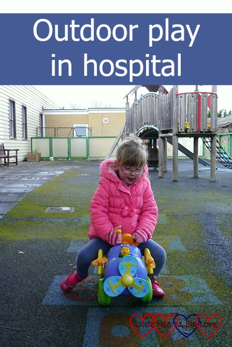 Outdoor play in hospital - Little Hearts, Big Love