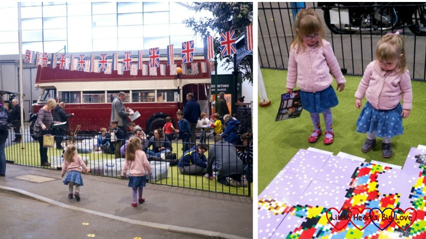 An old fashioned square and making a Lego picture - Milestones Museum