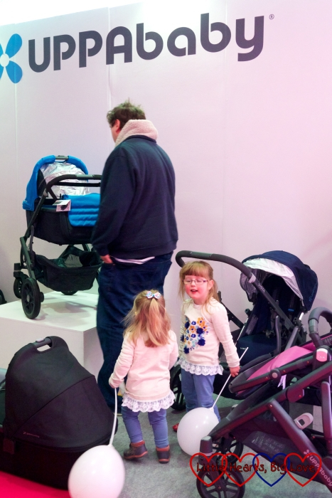 Checking out the UPPAbaby Vista at the Baby & Toddler Show