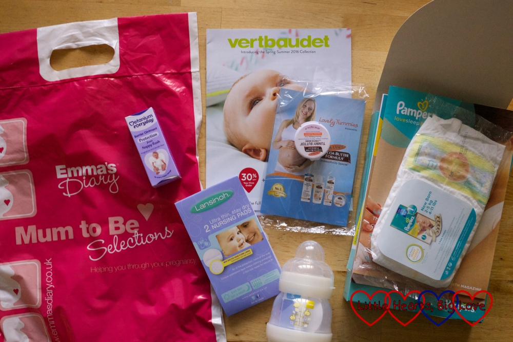 The goody bag from the Baby & Toddler Show