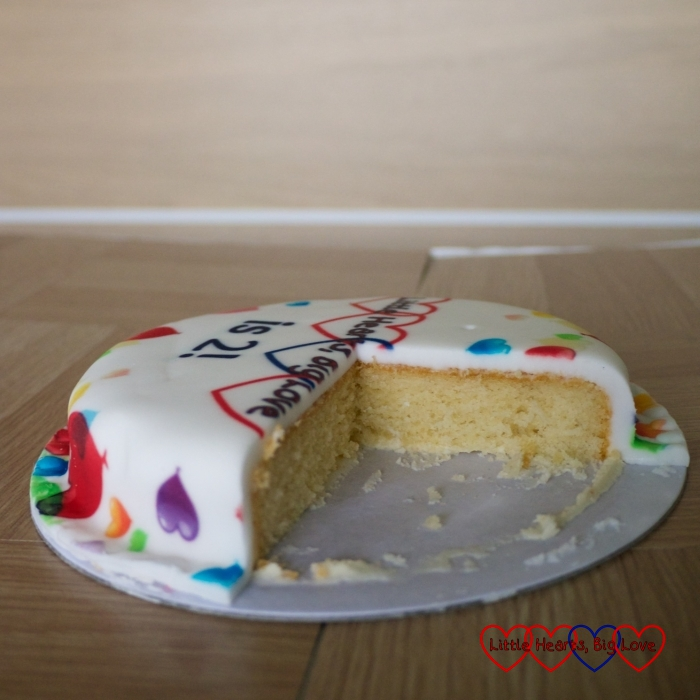 Celebrating my 2nd blog birthday with a cake from Baker Days – plus you could win one too! - Little Hearts, Big Love