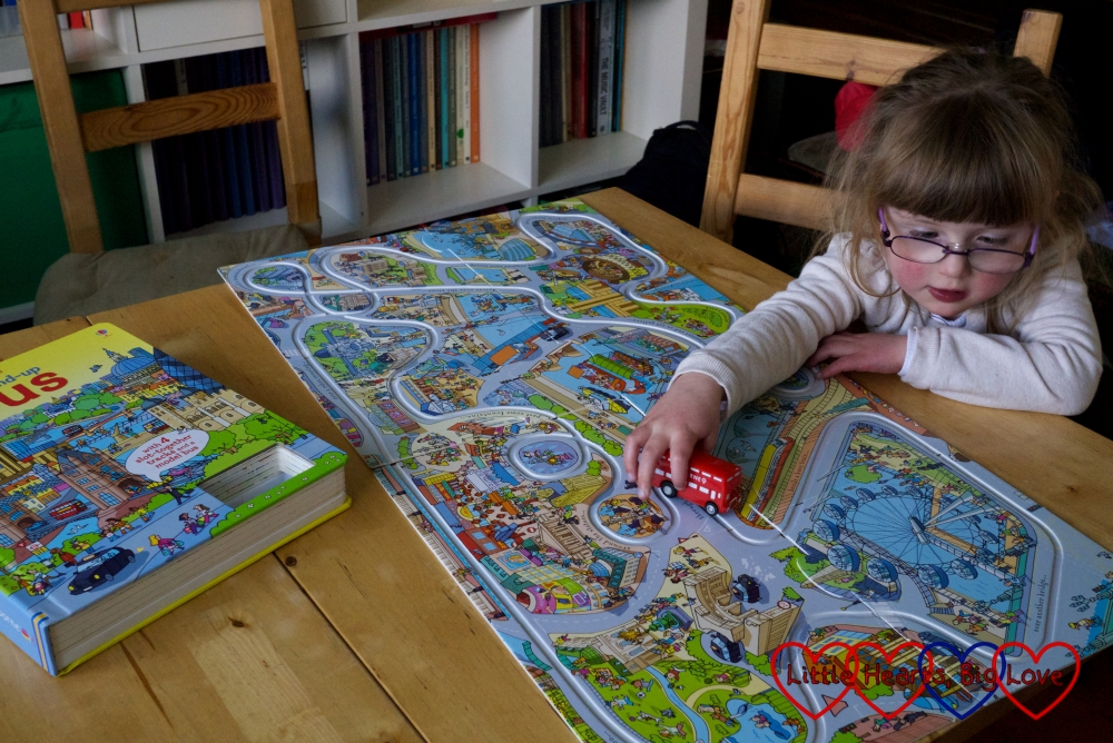 The wind-up bus book from Usborne books - a fabulous interactive book with a jigsaw map of London