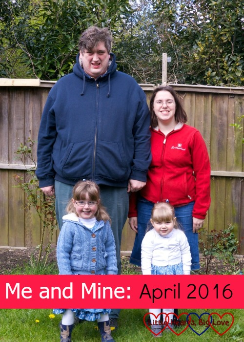 Me and Mine - a family photo project - our family in April