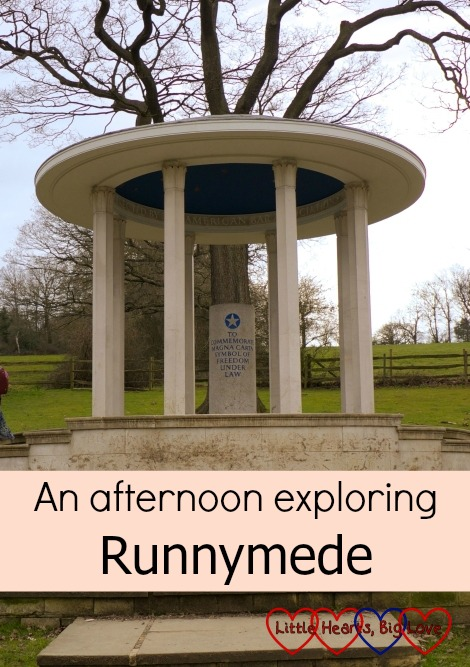 Visiting the Magna Carta memorial whilst exploring Runnymede