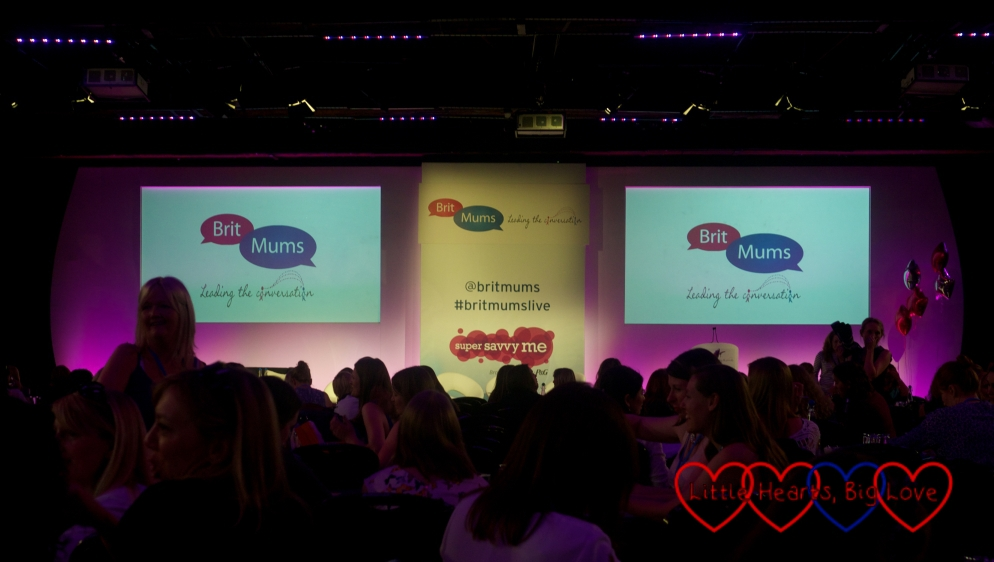 The presentation screens at Britmums Live