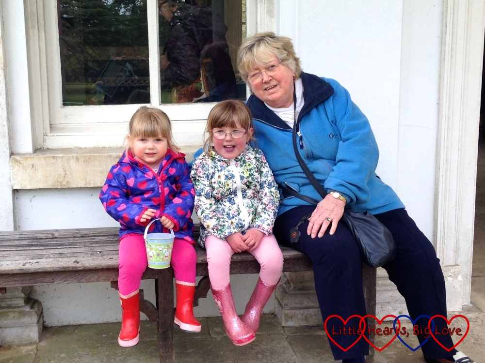 The girls enjoying a day out with Grandma at Osterley Park