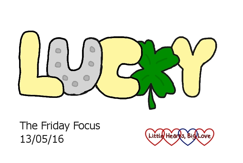 """Friday 13th might be unlucky for some but today I feel incredibly lucky - this week's word of the week is """"lucky"""""""
