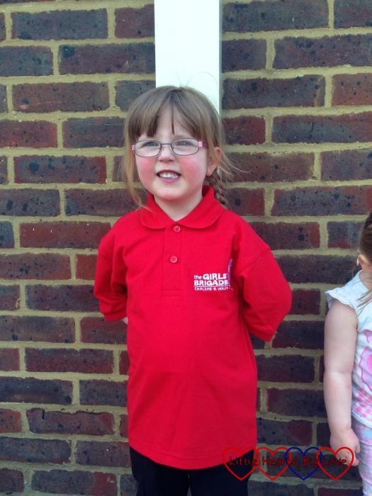 Jessica in her Girls' Brigade uniform