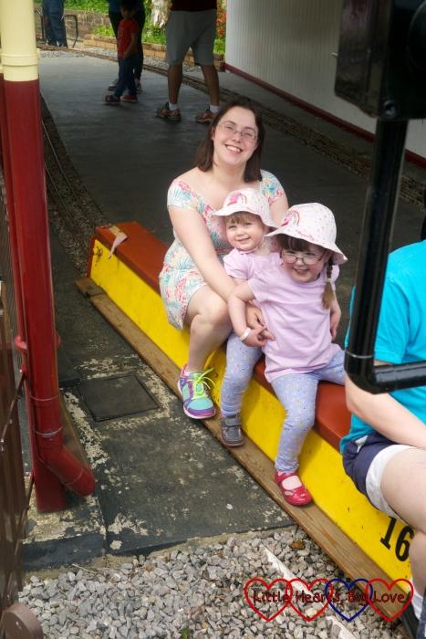 A ride on the train at Ickenham Miniature Railway