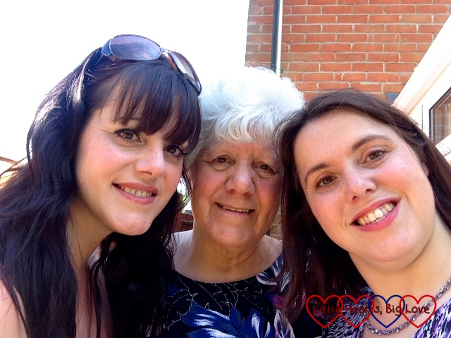 Spending an afternoon with my mum and twin sister for our birthday celebrations
