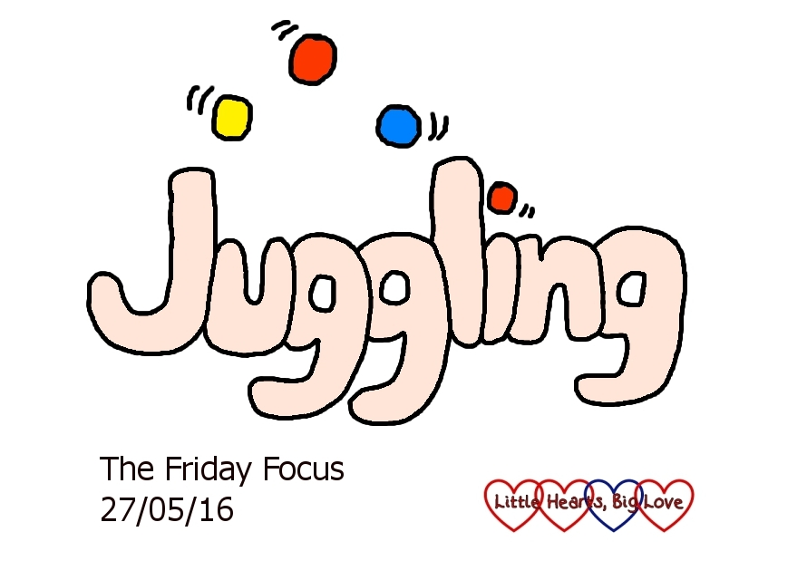 "This week's word of the week is ""juggling"" - my second week of solo parenting has felt very much like a juggling act"