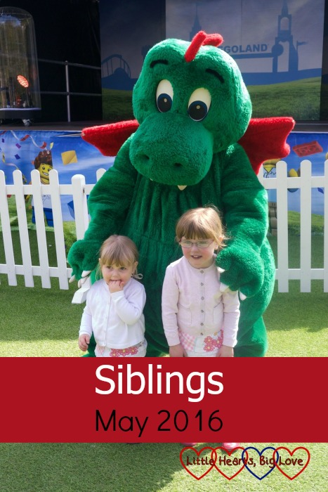 Siblings - May 2016 - photos of my girls from our recent day out at Legoland