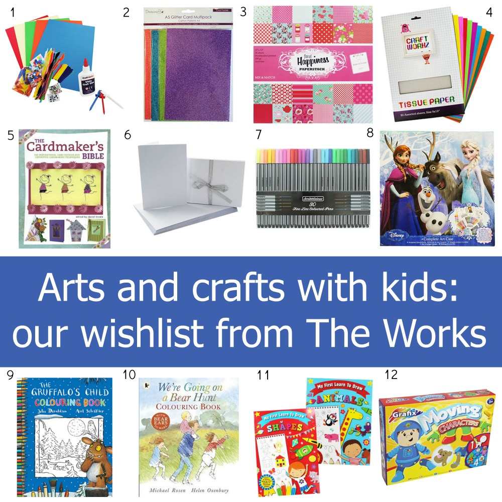 Arts and crafts with kids our wishlist from the works for Craft supplies for card making