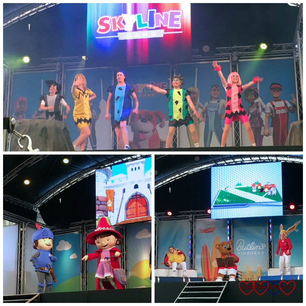 The Skyline Gang, Mike the Knight and Billy's Bedtime Story - some of the live shows we saw at Butlins