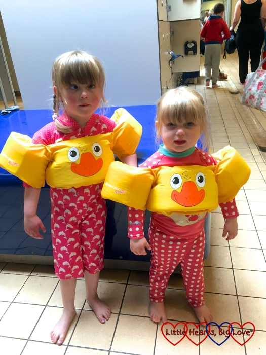 All ready to go for a swim at Butlins