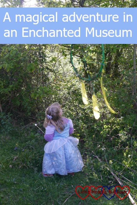 A little princess enjoying a magical adventure in an Enchanted Museum