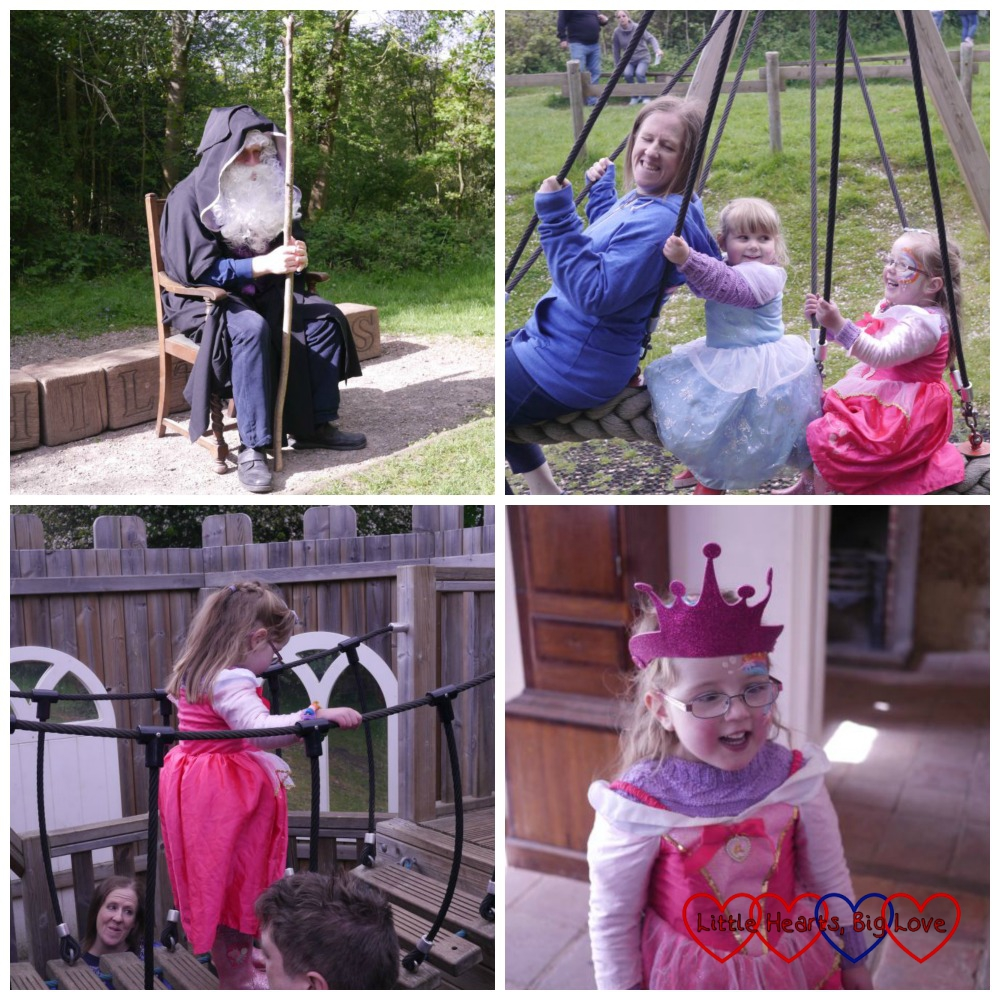 Stories from a wizard and fun in the playground at Chiltern Open Air Museum