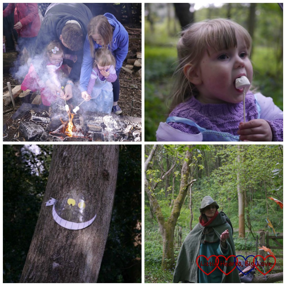 Toasting marshmallows and meeting all sorts of characters in the Enchanted Forest