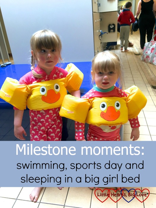 Jessica becoming more confident with swimming - one of our milestone moments this week