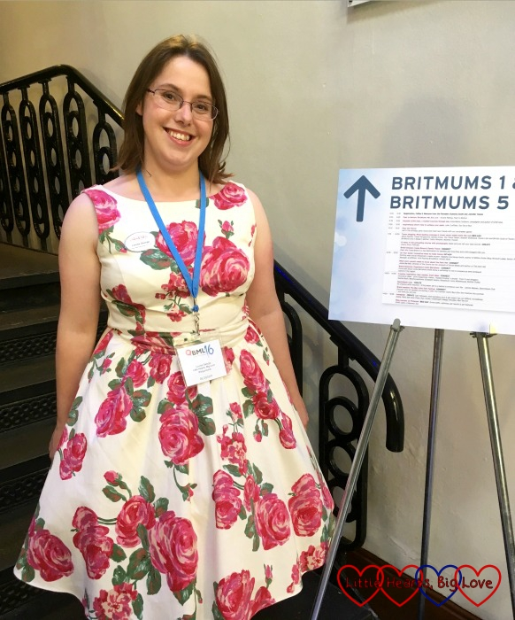 Posing in my pretty dress at #BML16