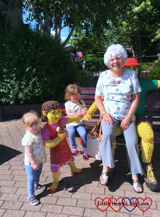 My two girls enjoying a day out at Legoland with my mum
