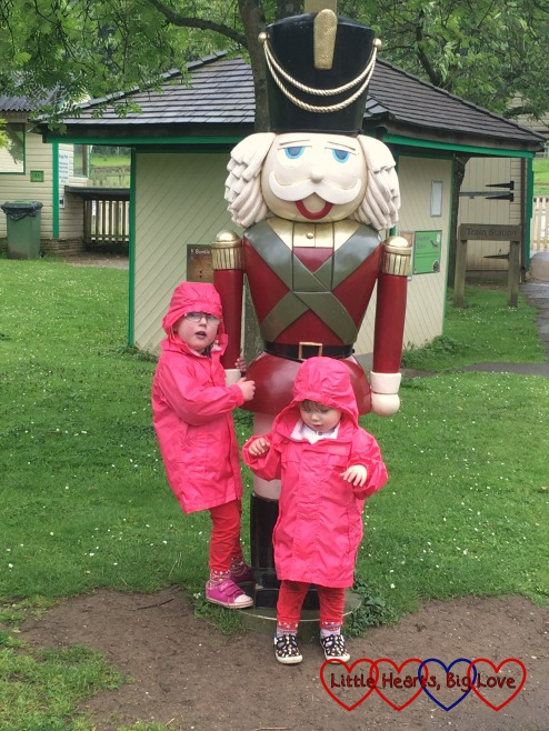 """Jessica and Sophie with """"The Grand Old Duke of York"""" at Beale Park"""