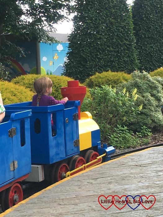 Jessica driving the Duplo Train