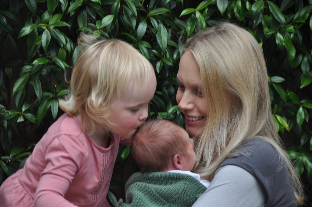 Liz from Parenting Calm with her two children