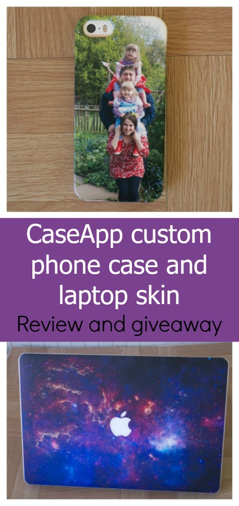 A personalised phone case from CaseApp with a photo of our family plus a customisable laptop skin - my review of CaseApp plus a chance to win a customised product