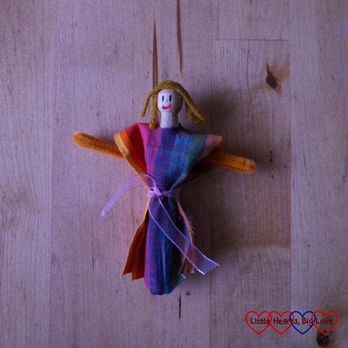 A finished clothes peg doll