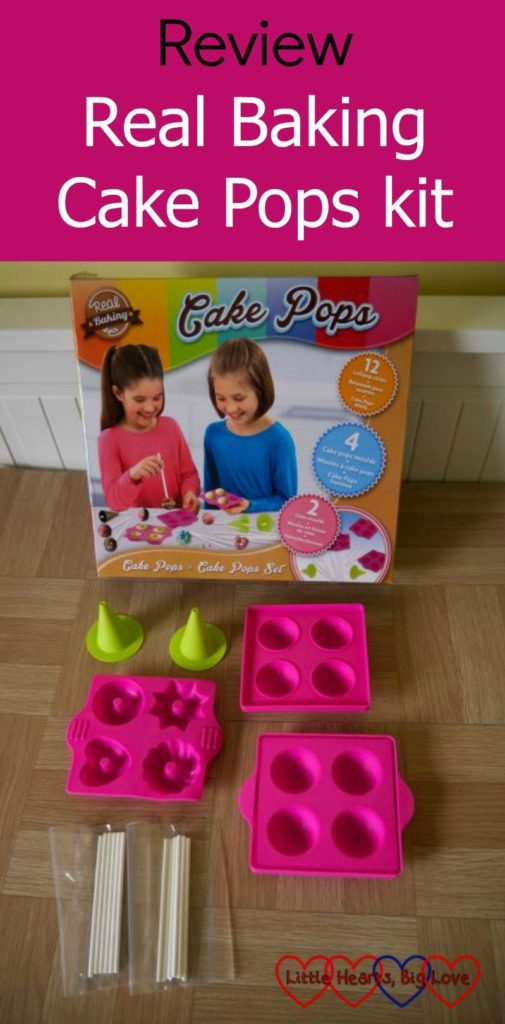 The Real Baking Cake Pops kit from Vivid - including moulds for four cake pops, four mini doughnut moulds, 2 cone-shaped moulds and 12 sticks