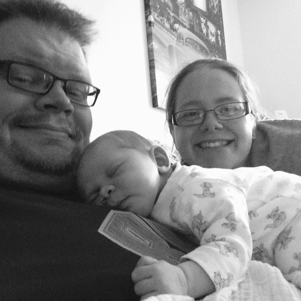 Rachel from Rachel Bustin with her husband Dave and baby girl