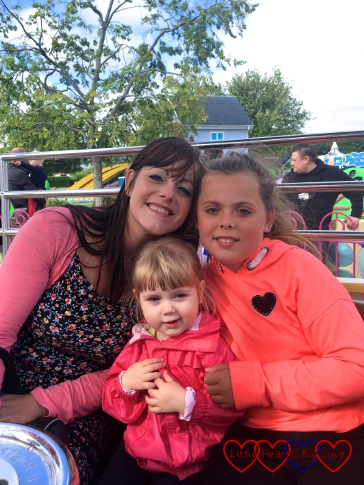 Auntie Fizz and Erin with Sophie on Peppa's Big Balloon Ride