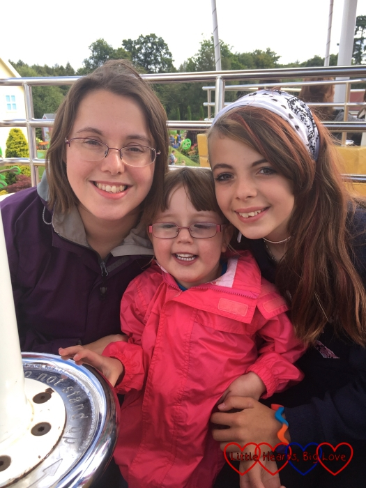Me, Ebony and Jessica on Peppa's Big Balloon Ride