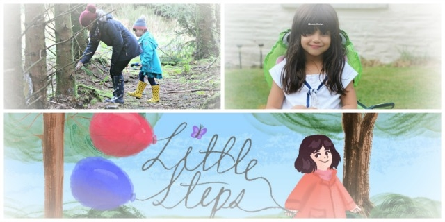 Photos of Little T and Little Steps' logo