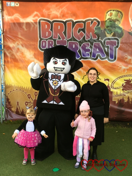 Me, Jessica and Sophie with a giant Lego vampire
