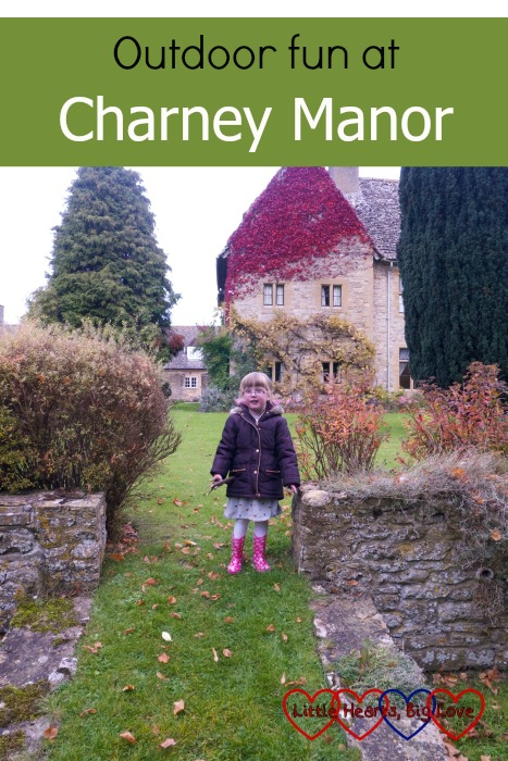"""Jessica standing in the ground of Charney Manor - """"Outdoor fun at Charney Manor"""""""