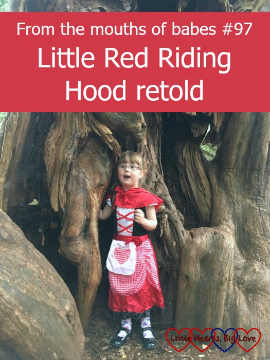 Jessica as Little Red Riding Hood - this week's #ftmob moment is all about her retelling of the classic fairy tale